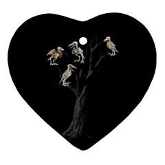 Dead Tree  Ornament (heart) by Valentinaart