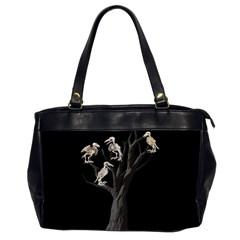 Dead Tree  Office Handbags (2 Sides)  by Valentinaart