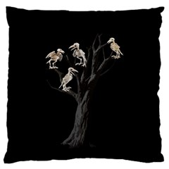 Dead Tree  Large Flano Cushion Case (two Sides) by Valentinaart