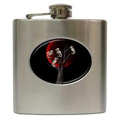 Dead Tree  Hip Flask (6 Oz) by Valentinaart