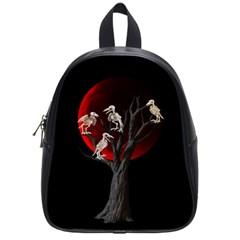 Dead Tree  School Bag (small) by Valentinaart