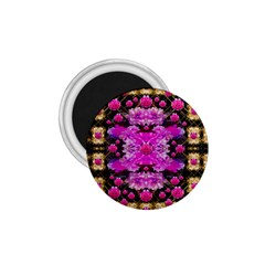 Flowers And Gold In Fauna Decorative Style 1 75  Magnets by pepitasart