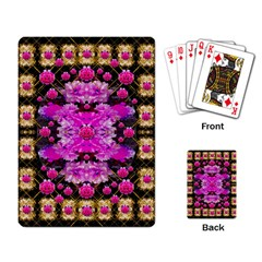 Flowers And Gold In Fauna Decorative Style Playing Card by pepitasart