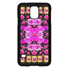 Flowers And Gold In Fauna Decorative Style Samsung Galaxy S5 Case (black) by pepitasart