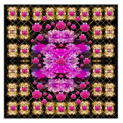 Flowers And Gold In Fauna Decorative Style Large Satin Scarf (square) by pepitasart