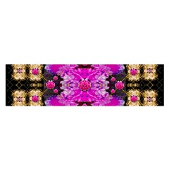 Flowers And Gold In Fauna Decorative Style Satin Scarf (oblong) by pepitasart