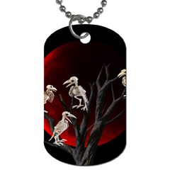 Dead Tree  Dog Tag (one Side) by Valentinaart