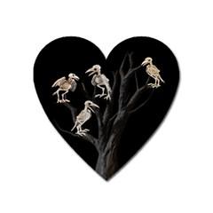 Dead Tree  Heart Magnet by Valentinaart