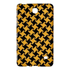 Houndstooth2 Black Marble & Orange Colored Pencil Samsung Galaxy Tab 4 (8 ) Hardshell Case  by trendistuff