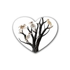 Dead Tree  Heart Coaster (4 Pack)  by Valentinaart