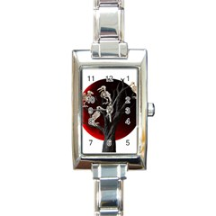 Dead Tree  Rectangle Italian Charm Watch by Valentinaart