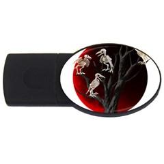 Dead Tree  Usb Flash Drive Oval (4 Gb) by Valentinaart