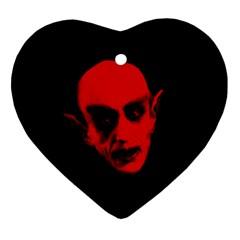Dracula Ornament (heart) by Valentinaart