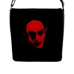 Dracula Flap Messenger Bag (l)  by Valentinaart