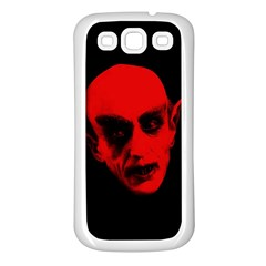Dracula Samsung Galaxy S3 Back Case (white) by Valentinaart