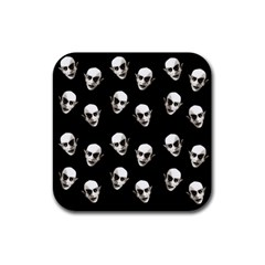 Dracula Rubber Square Coaster (4 Pack)  by Valentinaart