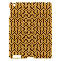 Hexagon1 Black Marble & Orange Colored Pencil (r) Apple Ipad 3/4 Hardshell Case by trendistuff