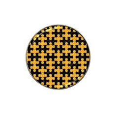 Puzzle1 Black Marble & Orange Colored Pencil Hat Clip Ball Marker by trendistuff