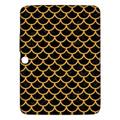 Scales1 Black Marble & Orange Colored Pencil Samsung Galaxy Tab 3 (10 1 ) P5200 Hardshell Case  by trendistuff