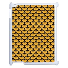Scales3 Black Marble & Orange Colored Pencil (r) Apple Ipad 2 Case (white) by trendistuff