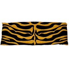 Skin2 Black Marble & Orange Colored Pencil Body Pillow Case (dakimakura) by trendistuff