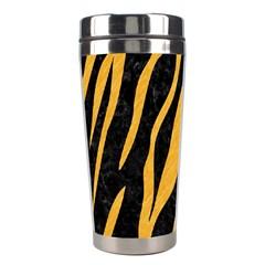 Skin3 Black Marble & Orange Colored Pencil Stainless Steel Travel Tumblers by trendistuff