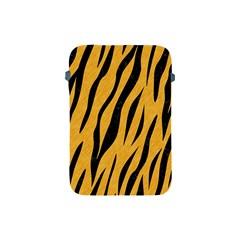 Skin3 Black Marble & Orange Colored Pencil (r) Apple Ipad Mini Protective Soft Cases by trendistuff