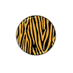Skin4 Black Marble & Orange Colored Pencil (r) Hat Clip Ball Marker by trendistuff