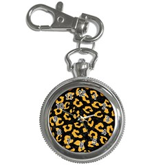 Skin5 Black Marble & Orange Colored Pencil (r) Key Chain Watches by trendistuff