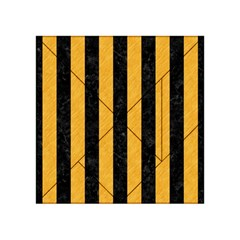 Stripes1 Black Marble & Orange Colored Pencil Acrylic Tangram Puzzle (4  X 4 ) by trendistuff