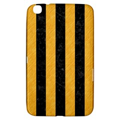 Stripes1 Black Marble & Orange Colored Pencil Samsung Galaxy Tab 3 (8 ) T3100 Hardshell Case  by trendistuff