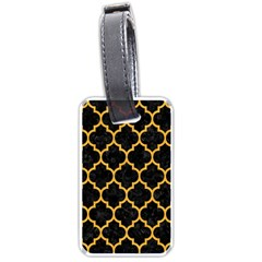 Tile1 Black Marble & Orange Colored Pencil Luggage Tags (one Side)  by trendistuff