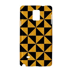 Triangle1 Black Marble & Orange Colored Pencil Samsung Galaxy Note 4 Hardshell Case by trendistuff