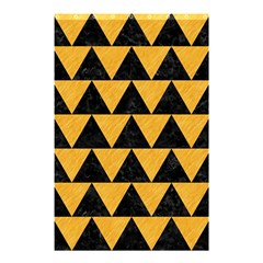Triangle2 Black Marble & Orange Colored Pencil Shower Curtain 48  X 72  (small)  by trendistuff