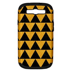Triangle2 Black Marble & Orange Colored Pencil Samsung Galaxy S Iii Hardshell Case (pc+silicone) by trendistuff