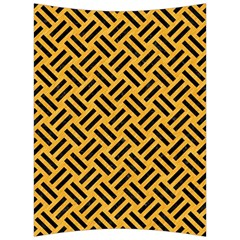 Woven2 Black Marble & Orange Colored Pencil (r) Back Support Cushion by trendistuff