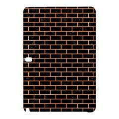 Brick1 Black Marble & Orange Watercolor (r) Samsung Galaxy Tab Pro 12 2 Hardshell Case by trendistuff