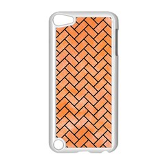 Brick2 Black Marble & Orange Watercolor Apple Ipod Touch 5 Case (white) by trendistuff