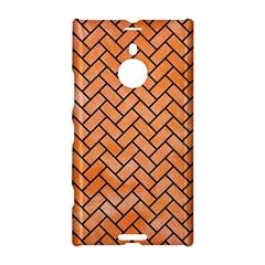 Brick2 Black Marble & Orange Watercolor Nokia Lumia 1520 by trendistuff