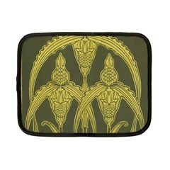 Green Floral Art Nouveau Netbook Case (small)  by 8fugoso