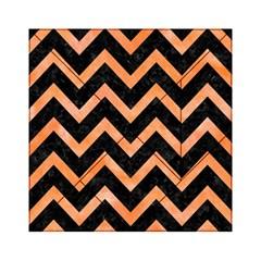Chevron9 Black Marble & Orange Watercolor (r) Acrylic Tangram Puzzle (6  X 6 ) by trendistuff