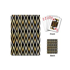 Gold,black,art Deco Pattern Playing Cards (mini)  by 8fugoso