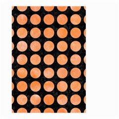 Circles1 Black Marble & Orange Watercolor (r) Small Garden Flag (two Sides) by trendistuff