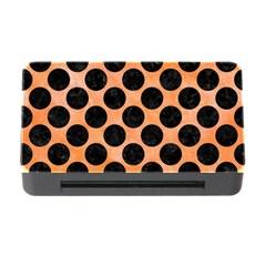 Circles2 Black Marble & Orange Watercolor Memory Card Reader With Cf by trendistuff