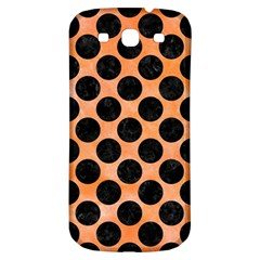 Circles2 Black Marble & Orange Watercolor Samsung Galaxy S3 S Iii Classic Hardshell Back Case by trendistuff
