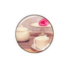 High Tea, Shabby Chic Hat Clip Ball Marker (4 Pack) by 8fugoso