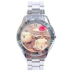 High Tea, Shabby Chic Stainless Steel Analogue Watch by 8fugoso