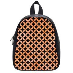 Circles3 Black Marble & Orange Watercolor (r) School Bag (small) by trendistuff
