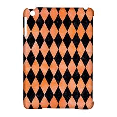 Diamond1 Black Marble & Orange Watercolor Apple Ipad Mini Hardshell Case (compatible With Smart Cover) by trendistuff