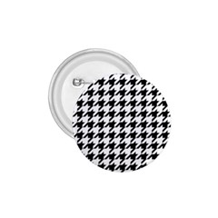 Classic Vintage Black And White Houndstooth Pattern 1 75  Button by Beachlux